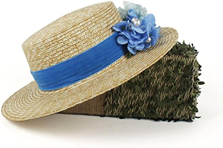 FuweiEncore Cappello da Tesa Donna a Tesa da Larga in Paglia Cappello da  Donna alla Moda 6419fdad3681