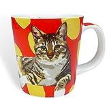 Leslie Gerry Gestromt Katze Tasse in Geschenk Box by