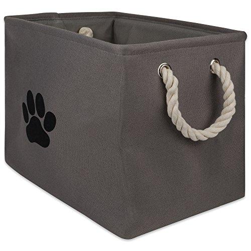 Bone Dry DII Aufbewahrungskorb für Spielzeug und Zubehör, mittelgroß, rund, Rechteck, Rectangle - Für Hundespielzeug Kiste