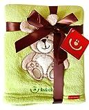 Kuschlige Babydecke mit 3D Applikation 76 x 102 cm KCSN08 (Grün - Hase)