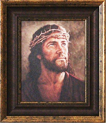 Thy erfolgt durch Del Parson gerahmtes Bild von Jesus mit Dornenkrone