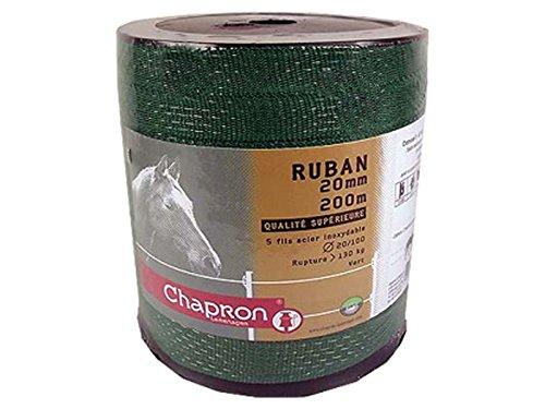 Ruban de clôture électrique Vert - 20 mm - Bobine 200 M