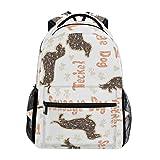 COOSUN Strukturierter Dackel Hunde zufällige Rucksack Schultasche Reise Daypack Mehrfarbig