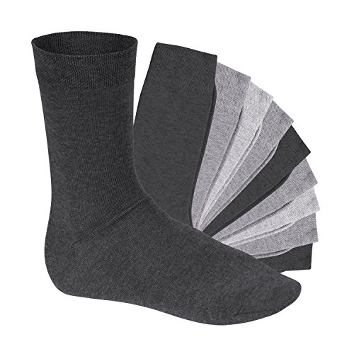 Footstar 10 Paar EVERYDAY! Socken Classic Grey 43-46 -