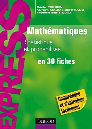 Mathématiques L1/L2 : Statistique et Probabilités: en 30 fiches