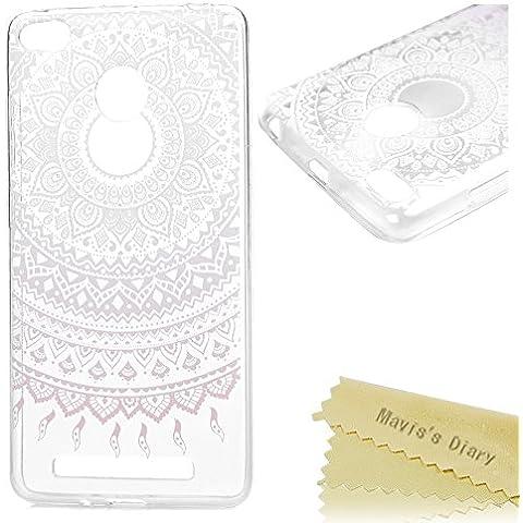 Xiaomi Redmi 3 Pro / Redmi 3S Funda Silicona Gel TPU Ultra Slim Transparente - Mavis's Diary Carcasa Case Bumper Shock-Absorción y Anti-Arañazos - tótem de la flor