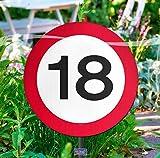 Verkehrszeichen 18' Gartenschild, ca. 25 cm Ø, Kunststoff