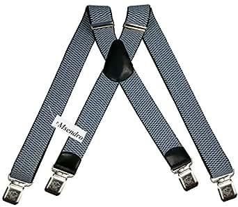 bretelles x enti rement r glable pour homme femme 4 cm avec 4 clips lastique solide casual. Black Bedroom Furniture Sets. Home Design Ideas