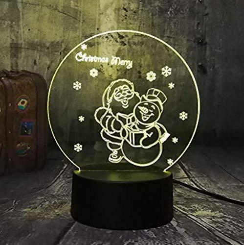 Netter Weihnachtsmann Und Schneemann 3D Führten Nachtlichter Usb-Ausgangsdecro-Tabellen-Schreibtisch-Lampen-Frohe Weihnacht-Geschenk Für Die Mehrfarbigen Kinder
