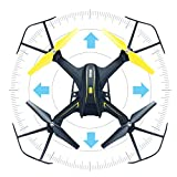 HASAKEE H3 FPV RC Drone with HD Live Video Wifi Camera and Headless Mode 2.4GHz 6-Axis Gyro Quadcopter with Altitude Hold,FPV Phone Control and Gravity Sensor RTF Function,BONUS BATTERY
