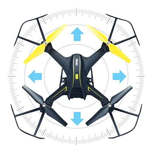 HASAKEE H3 FPV RC Drone with HD Live Video Wifi Camera and Headless Mode  2 4GHz 6-Axis Gyro Quadcopter with Altitude Hold,FPV Phone Control and