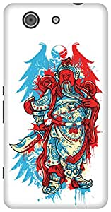The Racoon Grip printed designer hard back mobile phone case cover for Sony Xperia Z3 Compact. (The Angry)
