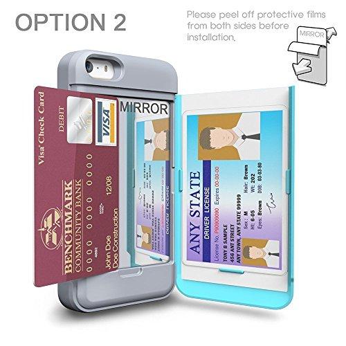 iPhone SE Hülle, TORU [CX PRO Case] [Farbe] [Portemonnaie] Handyhülle für iPhone SE Brieftasche Hülle - [Kartenfach][Ständer][Schutzhülle] Handyhülle mit verstecktes Spiegel für iPhone 5/5S/SE - Dunke Tribal Aztec