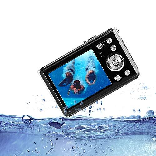 HG8011 Cámara Digital a Prueba de Agua/Zoom Digital 4X/ 12 MP/ 1080P FHD/Pantalla LCD TFT de 2,31'/ Cámara subacuática para niños/Adolescentes/ Estudiantes/Principiantes/ Los Ancianos