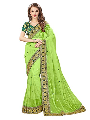 Glory Sarees Net Saree (Swayamwar 109_Green)
