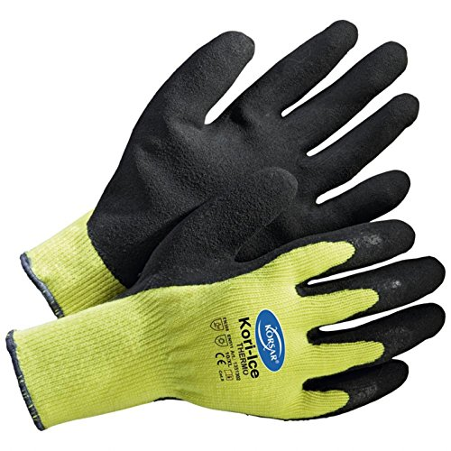 144 Paar Winterhandschuh Arbeitshandschuh Montagehandschuh Kori-Ice Thermo Größe 11 neongelb/schwarz