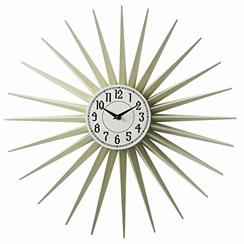 sunburst-cream-wall-clock