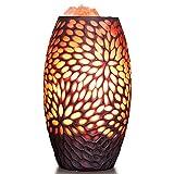 WCUI Lampe de sel en cristal, sel de sel de l'Himalaya Creative cadeau lumière Chambre lampe de chevet Petite lumière de nuit Cadeaux de vacances d'anniversaire 14 * 14 * 26CM Select ( taille : 14*26*9CM )
