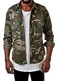 EightyFive Herren Camo Hemd Freizeit Grün Braun Camouflage EF3636, Größe:M, Farbe:Camouflage