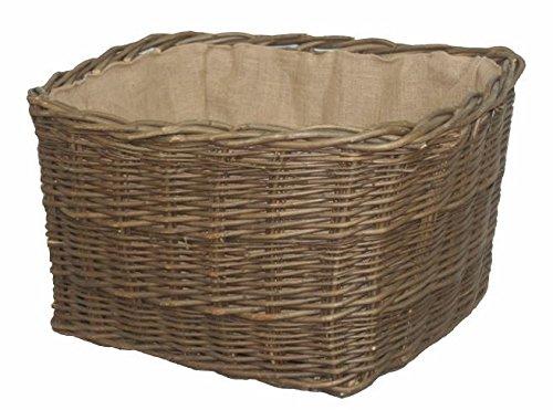 Green Ash Wild Rectangle Log Basket lined