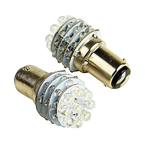 VERY100 2pcs New 12V 36 LED BA15D 1157 Globe For Caravan Boat Anchor Brake Light Bulb