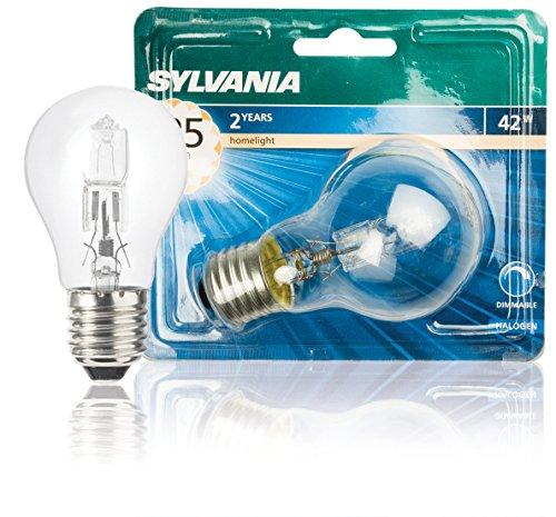 SYLVANIA SYL0023769 Ampoule halogène économique A55-42 watts-E27, Aluminium, Blanc
