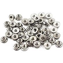 304 Stainless Steel Metric Flange Nuts M3 3mm Hex Nut-50 Pack