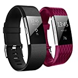 Fitbit Charge 2 Bracelet, Aahlsen TPE Soft Silicone Fitness Sangle Accessoires...