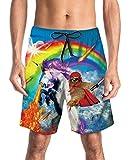 uideazone 3D Einhorn Druck Herren Badehose Sommer Badeshorts Strand Surf Board Shorts