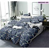 Ab Home Decor Microfiber Glace Cotton AC Comforter Set King Size Double Bed with 1 Flat bedsheet-90x100 inch and Two Pillow Covers II 4 pc Bedding Set