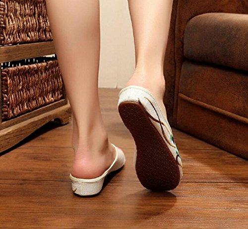 Lazutom, Pantofole Da Donna Beige