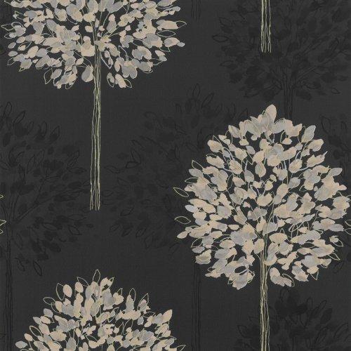 black-gold-417902-boulevard-trees-forest-arthouse-wallpaper
