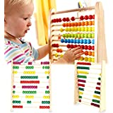 Abacus Toy :- Classic Wooden Educational Counting Toy For Kids, Colorful Beads Maths Learning Educational Toy By Shuban