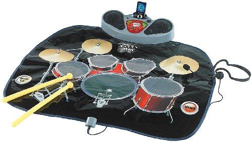 Playtastic Musikmatte: Schlagzeug-Matte mit Drumsticks und Karaoke-Funktion (Spielmatten)