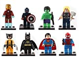 8 pcs Marvel Avengers Super Hero Mini figures Building Blocks Sets