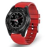 Reloj Inteligente Bluetooth Smartwatch con Tarjeta SIM y Ranura para Tarjeta TF Supervisión del sueño Podómetro Calorías Reloj Deportivo Impermeable Compatible con Android