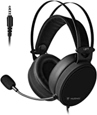 Nubwo PS4 Gaming Headset,Xbox one Headset PC Stereo Gaming Kopfhörer mit Noise Cancelling Mic, Leichte Over Ear Gaming Kopfhörer für PS4 / Xbox 1 / PC/MAC Nintendo Switch (Schwarz)