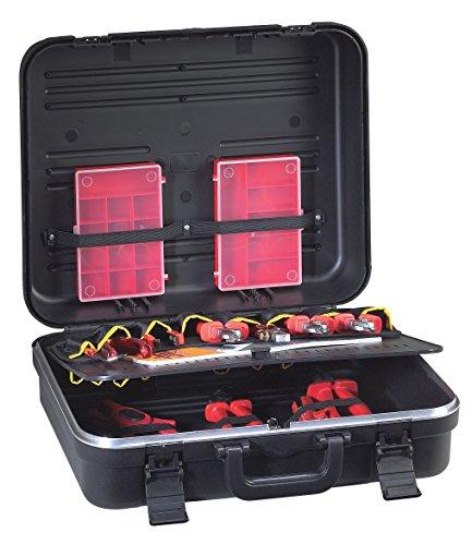 GT Line Boxer Euro Koffer Werkzeughalter mit Taschen aus robustem Polypropylen Innen (430x 340x 156mm)