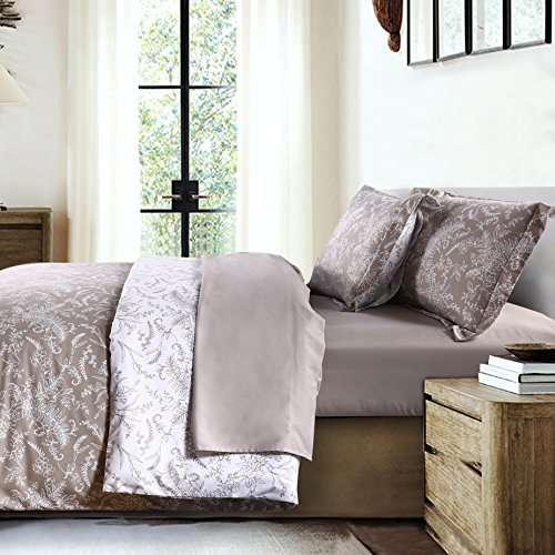 Feines Hemd southshore Linens Bedruckte Mikrofaser Bettbezug Sets, Mikrofaser, Winter Brush Warm Sand, King/California King -