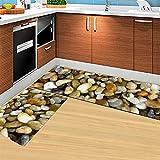 Ommda Küchen Teppiche Läufer Abwaschbar Bunt Drucken Antiskid Küchenläufer Schlafzimmer Dekorativ mit Gummirückseite 50x80cm+50x160cm