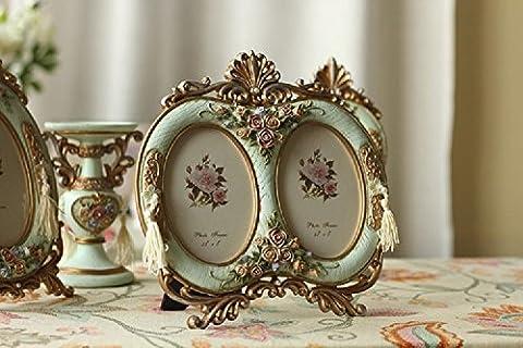 K&C European Style Vintage Retro Double Photo Frame Picture Frame 5