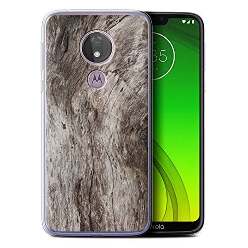 eSwish Gel TPU Hülle/Case für Motorola Moto G7 Power/Getreide Muster/Baumrinde Kollektion - Power Gel Case