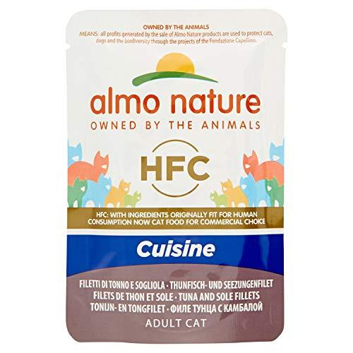 Almo Nature Classic Cuisine Sachet de Filet de Thon et de Sole, pour Chat, 55 g