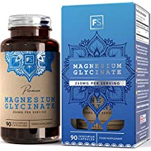 Glicinato de Magnesio 250 mg - 90 Cápsulas vegetarianas de Magnesio Glicinato | Apoya la Función