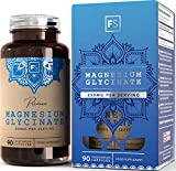 FS Magnesium Glycinate HPMC Capsules [250mg], Natural Citrate Free HIGH BIOAVAILABILITY Magnesium Supplement