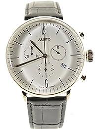 Aristo 4H150 - Reloj , correa de cuero color negro