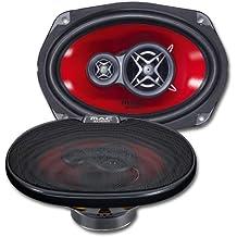 Mac Audio APM Fire 69.3 - Altavoces de coche (sistema triaxial de 3 vías,  rango de frecuencia de 40 - 20000 Hz ) rojo y negro