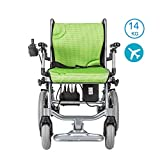 Electric Wheelchair Lightweight Wheelchair, Dual-function Heavy-duty, Open/fast-fold Compact Electric Chair Drive with Power