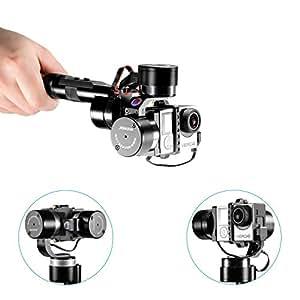 Neewer® zhiyun Z-One-Pro 3-Axis Alta Precisione Portatile e Stabile Gimbal Giunto Cardanico PTZ Montatura Fotocamera Built- In Indipendente IMU Montaggio per Gopro Hero 4 Argento Nero 3+ 3 2 1