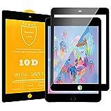 Dadanism Protector de Pantalla Compatible con iPad 9.7' 2018/2017/iPad Pro 9.7'/Air/Air 2, Premium HD Claro 9H Dureza Cristal Templado Película Protectora Cubierta - Negro